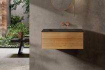 """""""Insa"""" Waschtischunterschrank 60 cm aus Massivholz inkl. Waschtisch aus Corian®   Lapidispa®"""