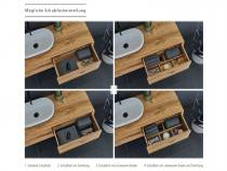 """Univo plus"" Waschtischunterschrank aus Massivholz mit Keramik-Oberfläche | Lapidispa®"