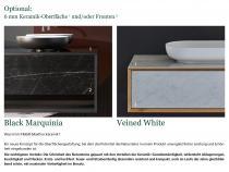 """""""Siro"""" Waschtischunterschrank aus Massivholz mit 2 Schubfächer von Lapidispa®"""